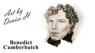 Time Lapse Drawing - Benedict Cumberbatch as Sherlock