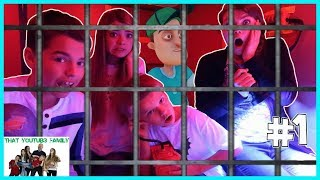 Hello Neighbors Ultimate Box Fort Maximum Security Prison Escape / That YouTub3 Family