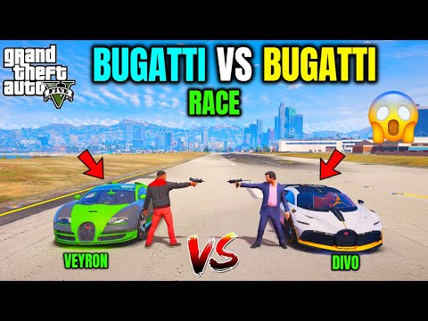 BUGATTI DIVO VS BUGATTI VEYRON RACE | TECHNO GAMERZ | GTA V GAMEPLAY #109