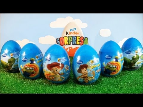 Video 6 EPIC TOY STORY SURPRISE EGGS!!! - Buzz Lightyear & Woody (Disney movie Toys) Kinder Surprise download in MP3, 3GP, MP4, WEBM, AVI, FLV January 2017