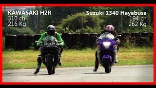 10. KAWASAKI H2R vs SUZUKI Hayabusa 1340
