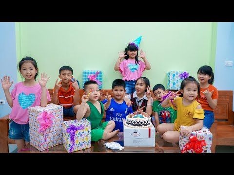 Kids Go To School | Day Birthday Of Chuns Children Make a Birthday Cake Lovely Children