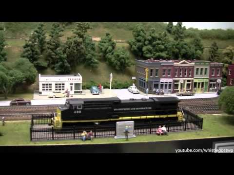 Large HO Model Railroad Layout – In The Basement