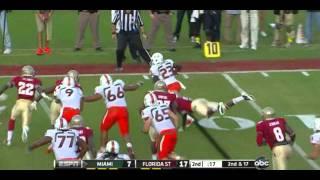 Nigel Bradham vs Oklahoma,Miami,Boston College