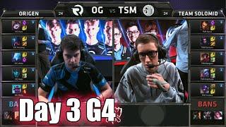 Origen vs TSM (Team Solomid) | Day 3 Game 4 Group D LoL S5 World Championship 2015 | OG vs TSM D3G4