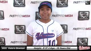 2022 Keierra Bowman Athletic Middle Infielder and Outfield Softball Skills Video - AASA Ayala