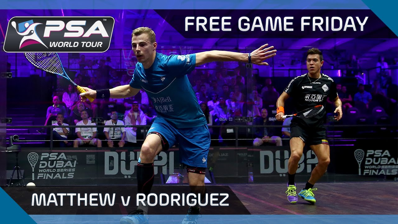 Squash: Free Game Friday – Matthew v Rodriguez – World Series Finals 2016