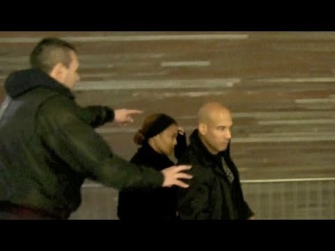 Janet Jackson camera very shy leaving the airport in Paris