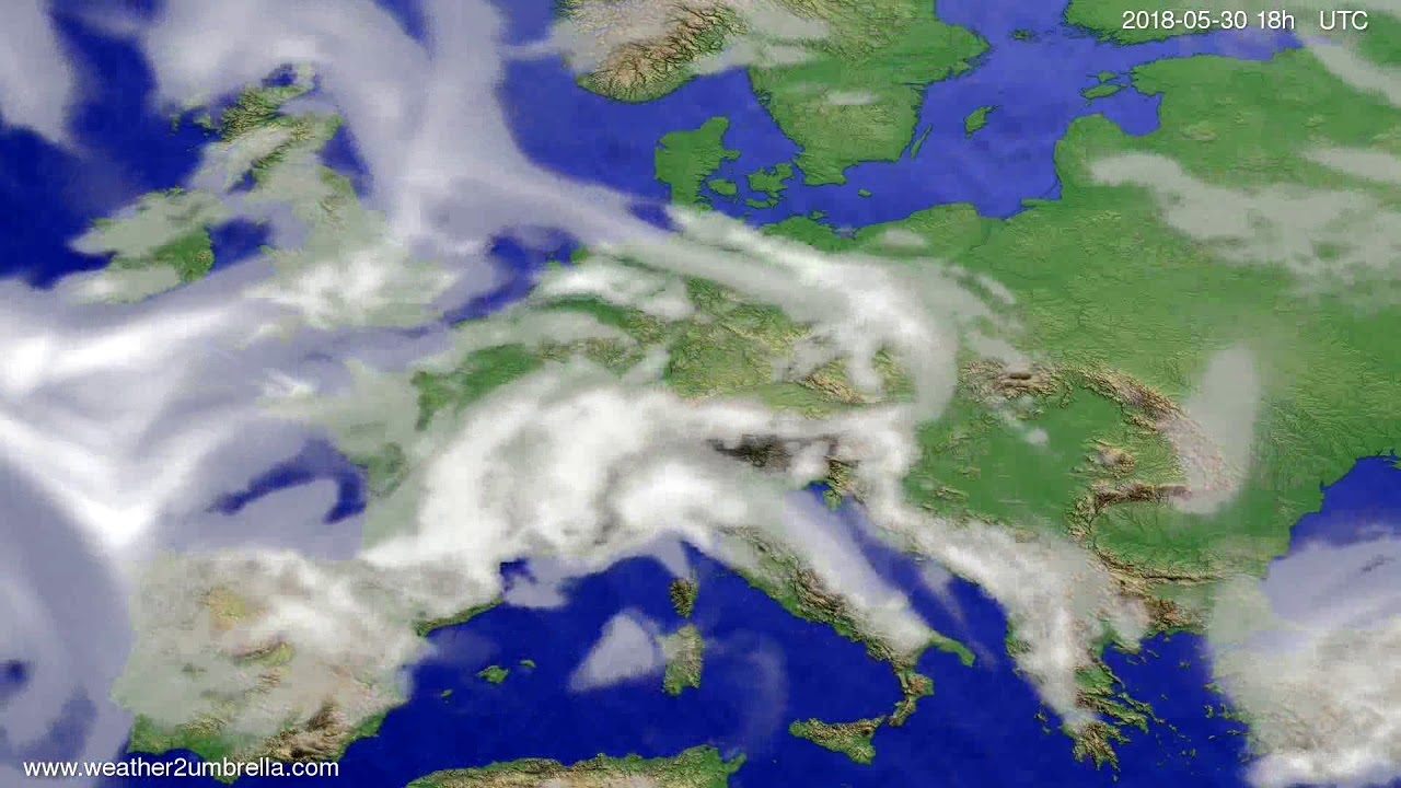 Cloud forecast Europe 2018-05-27