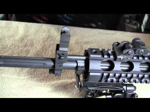 yhm - Yankee Hill Machine front flip up gas block sight system and back up rear sights.