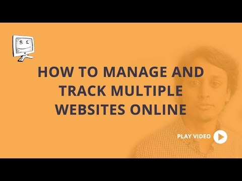 How to manage and track multiple websites online