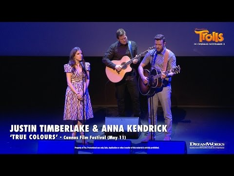 """Justin Timberlake and Anna Kendrick - """"True Colours"""" LIVE at Cannes 2016 