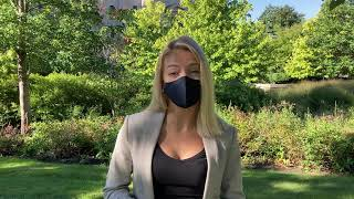 Miranda promotes wearing a mask on and off campus.
