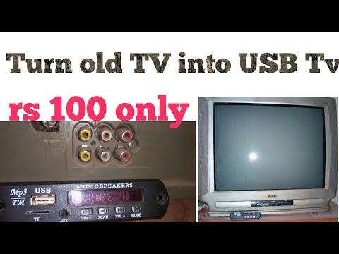 Turn old TV into USB TV,make USB TV,old TV to smart TV,connect USB to Tv,USB connect to tv