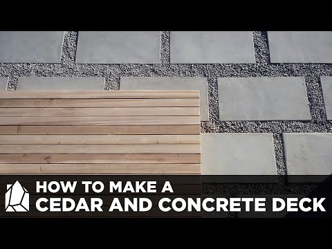 How To Make Concrete Patio Pavers And A Solid Cedar Deck