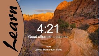 Help yourself with setting goals and becoming productivity with beautiful images to help with Motivation.  this is a review of the Momentum Extension for Google ChromeAnd no I did not receive anything from this review or was even asked to do it.
