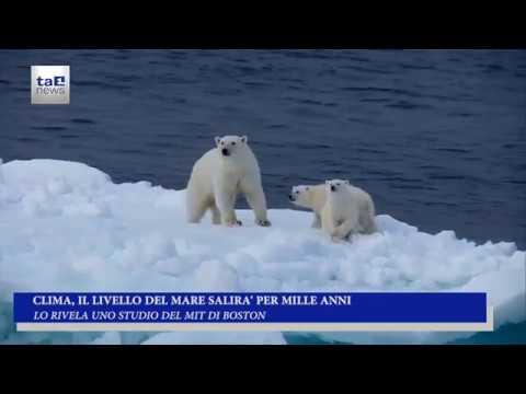 CLIMA, IL LIVELLO DEL MARE SALIRA' PER MILLE ANNI