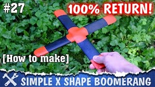 This video tutorial is about how to make a boomerang, a simple device without electronics, which can fly far away from you and then return right into your hands! To make this boomerang you need a wooden board, glue and some instruments like saw, sandpaper and file. It is 100% DIY boomerang!► Page on Instructableshttps://www.instructables.com/id/How-to-Make-a-Boomerang-3═════════════════════════════★ My websitehttp://alexgyver.ru/★ Me on GutHubhttps://github.com/AlexGyver★ Me on Instructableshttps://www.instructables.com/member/AlexGyver/