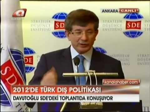 Dışişleri Bakanı Sn.Davutoğlu'nun Stratejik Düşünce Enstitüsü'nde Yaptığı Konuşma 1