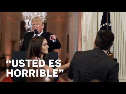 El ataque de Trump al periodista de CNN Jim Acosta. JONATHAN ERNST  EPV