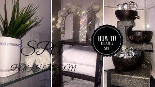 SMALL LUXURY BATHROOM ON A BUDGET | GLAM SPA