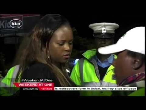 12 people nabbed in NTSA's  drunk driving inspection in Nairobi's suburbs of Lavington (видео)