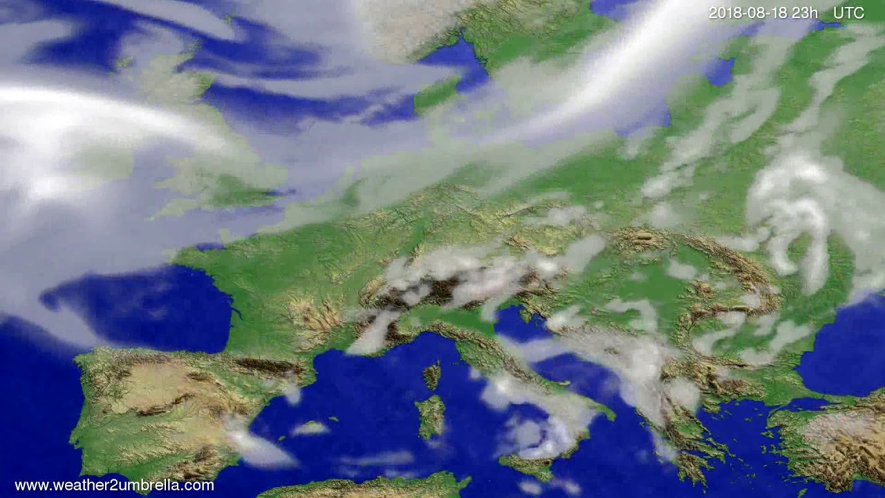 Cloud forecast Europe 2018-08-15