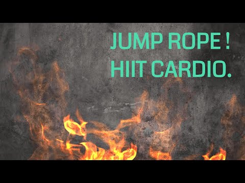 Skipping  FAT BURNER WORKOUT  HIIT CARDIO - JUMP ROPE