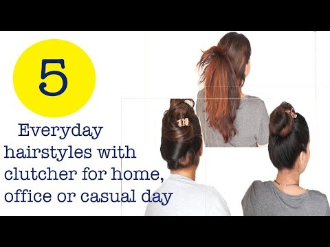 रोज़ के आसान हेयर स्टाइल्स/ hairstyles with clutcher for home and office