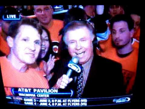 Flyers Fan Curses on Live TV