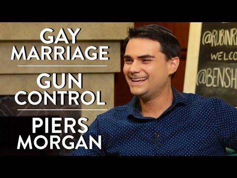 Ben Shapiro on Gay Marriage, Gun Control, and Piers Morgan