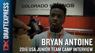 Bryan Antoine Interview at USA Basketball Junior National Team Camp