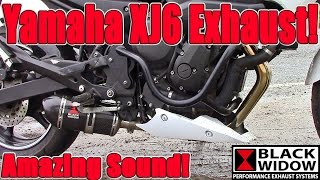 2. Black Widow Exhausts, Yamaha XJ6 / FZ6R,  Review, Install & sound comparison!