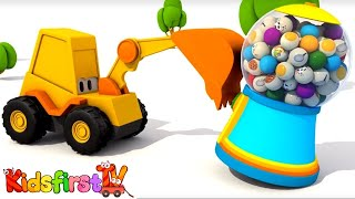 Video Excavator Max and carousel. Domestic animals. Animation. MP3, 3GP, MP4, WEBM, AVI, FLV Juni 2018