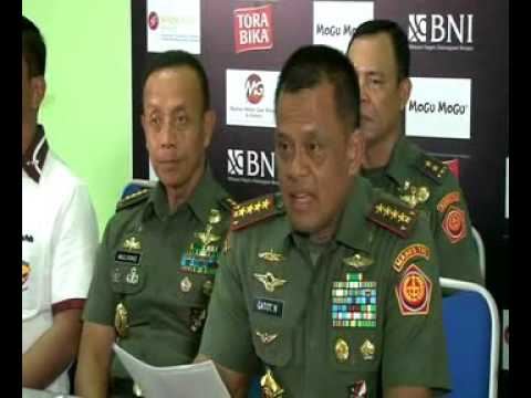 Press Conference Panglima TNI di Surabaya