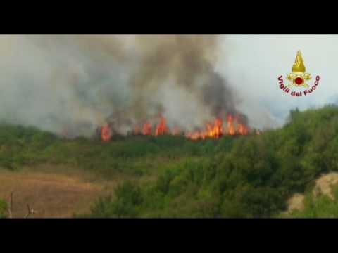 Incendio Mazzolla (Volterra) 17 luglio 2017