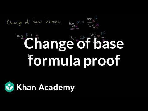 proof of the logarithm change of base rule video khan academy. Black Bedroom Furniture Sets. Home Design Ideas