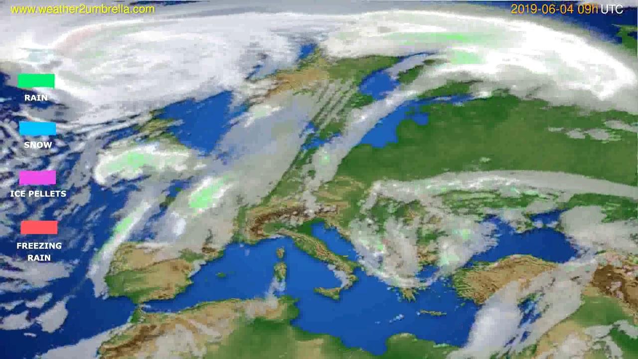 Precipitation forecast Europe // modelrun: 12h UTC 2019-06-02