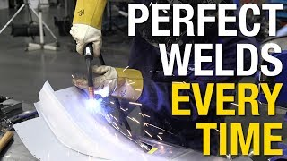 """Great Tip for Welding Sheet Metal.  The Perfect Panel Prep Tool from Eastwood gives you the strongest welds when butt welding sheet metal.  See it In-Action.Get The Tool Here:  http://www.eastwood.com/perfect-panel-prep-tool.html?utm_source=youtubeLIVE&utm_medium=annotation&utm_campaign=2017-07-18&utm_content=pneumatic%20perfect%20panel%20prep%20toolThe Eastwood PERFECT PANEL PREP TOOL® is an exclusive, patent pending, design provides a perfectly beveled 45° weld-prepped edge in 20 or 18 Gauge sheet metal to achieve solid, full-penetration MIG or TIG butt welds.Each strike forms a perfect 0.062"""" x 45° beveled flangeWorks great in 22 to 18 gaugeProper weld-prepped edges allow strong, flush, crack-free welds in sheet metalA must for the beginning welder and professional like. Minimizes blow through and warpage when joining panels. Great for patch panels of full quarter panel replacement. Simply cut patch or full panel. Overlay panel over repair area, scribe and cut panel on vehicle and use the Pneumatic Weld-Prep tool to create the """"perfect weld edge"""". The formed edge of both panels is now created that will accept the full penetration MIG or TIG bead with almost no post grinding or leveling. Minimizing warpage and crack potential. Patent Pending.For more information on Eastwood products visit www.eastwood.com or stay connected with the team via:Facebook - https://www.facebook.com/eastwoodcompany Instagram - http://instagram.com/eastwoodco Blog - http://www.eastwood.com/blog Eastwood has everything you need to do the job right when you're restoring a car, truck or motorcycle - from welders to paint and everything in between."""