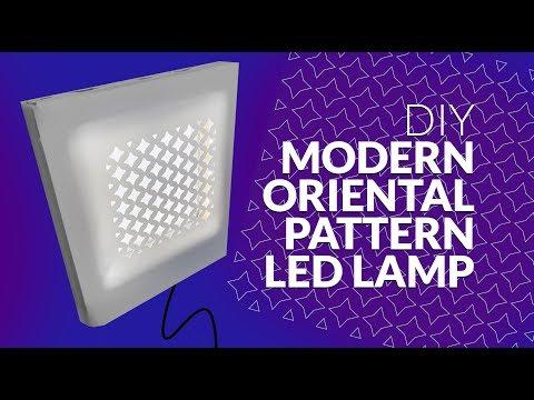 DIY Orient Pattern Modern Led Lamp
