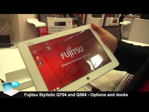 Fujitsu Stylistic Q704 with keyboard dock and Stylistic Q584 with Smart Card Shell