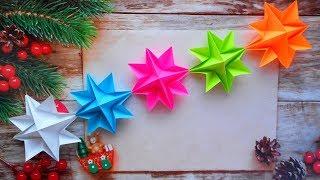 Гирлянда из бумаги / Оригами поделка на Новый Год