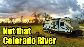 """We enjoy a few quiet and peaceful days at Colorado River Thousand Trails in Columbus, Texas. We give an aerial tour of the campground and visit the nearby river before heading out. On our way out to Louisiana, we venture through historic town of Columbus, TX and worry about the Houston traffic on I10.Don't forget, we are """"totally"""" social so check out the links below :http://www.totally-trailer.comEmail totallytrailer@gmail.comFacebook: www.facebook.com/totallytrailerTwitter: @totallytrailerInstagram: totally_trailerMusic is found on epidemicsound.com""""Positronic Emotions 3"""" Composer: Gavin Luke*****List of items that appear in this video:weBoost Connect 4G Cell Phone Signal Boosterhttp://amzn.to/2i5NpN05' Steel Tubing - 16 Gauge Steel Mast Pipe with Locking Jointshttp://amzn.to/2ipFBGaRV Flag Pole Kit Motorhome Flag Kit by FlagPole Buddy 22 Feethttp://amzn.to/2hUKia9RV Flag Pole Multi-Colored Solar Beaconhttp://amzn.to/2hUHtGaCamco 40043 TastePURE Water Filter http://amzn.to/2iqvH7lSupreme Wheel Chock- 2 Packhttp://amzn.to/2isKD0QValterra A01-1117VP Brass Lead-Free Adjustable Water Regulatorhttp://amzn.to/2iKQb73Camco 22505 90 Degree Hose Elbowhttp://amzn.to/2ie8BQyCamco 20123 Brass Water Wye Valvehttp://amzn.to/2hygRtFCamco 22833 Premium Drinking Water Hose (5/8""""ID x 25')http://amzn.to/2iKTT09*****Camera Gear used in this video:SanDisk Extreme 500 Portable SSD http://amzn.to/2hVs5sNWD 2TB Black My Passport Ultra Portable External Hard Drive - USB 3.0 http://amzn.to/2isw3GqSanDisk Ultra 32GB UHS-I/Class 10 Micro SDHC Memory Card With Adapterhttp://amzn.to/2iKReUsRode VideoMicro Compact On-Camera Microphonehttp://amzn.to/2isy3hRDJI 4K, UHD 7x Zoom Handheld 4K Camera Osmo+ Blackhttp://amzn.to/2hoaLO7DJI Osmo - Intelligent Batteryhttp://amzn.to/2ie7GzjGoPro Floatyhttp://amzn.to/2iKZfbYJoby GorillaPod SLR Zoom Tripod with Ball Head Bundle for DSLR and Mirrorless Camerashttp://amzn.to/2hVml2iDJI Phone Camera Gimbal OSMO MOBILE, Blackhttp://amzn.to/2isK2MlGoPro HERO4 BLACK"""