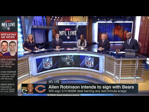 Allen Robinson Intends To Sign With Bears | NFL Live | Mar 13, 2018