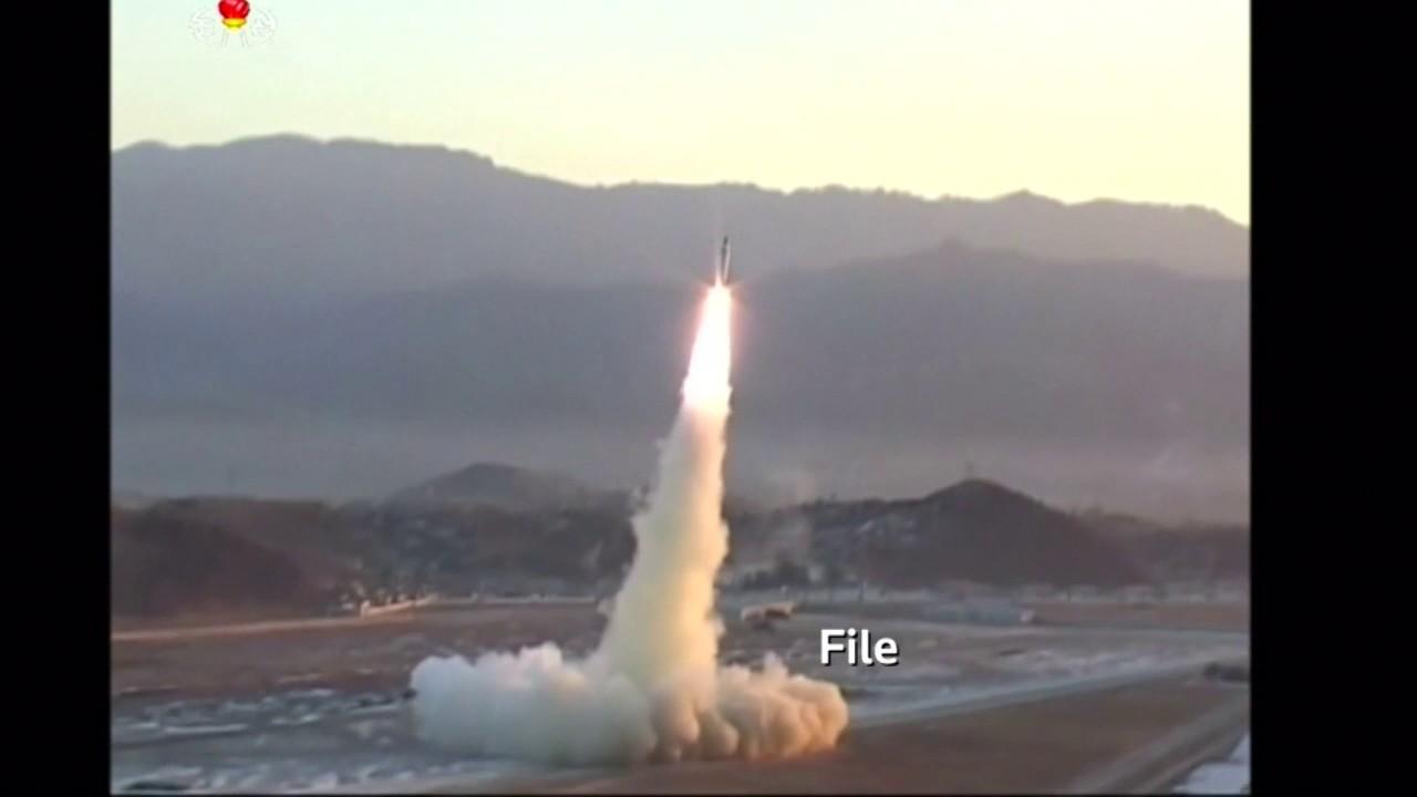 North Korea launches a ballistic missile