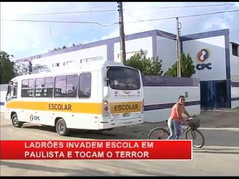 Bandidos invadem escola particular, em Paulista, e assaltam estudantes