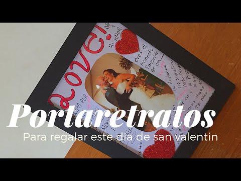 DIY/ HAZ UN PORTARETRATO CON FRASES DE AMOR /IDEAS PARA REGALAR EL DIA DEL AMOR Y LA AMISTAD/