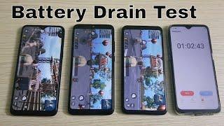 Realme 3 vs Xiaomi Redmi Note 7 vs Samsung Galaxy M20 Battery Drain Test