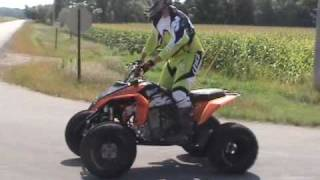 9. KTM 525XC & Yamaha Raptor 700