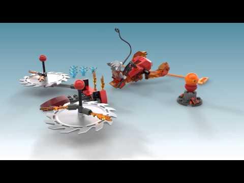 Vidéo LEGO Chima 70149 : Worriz - Challenge : Les lames de Feu